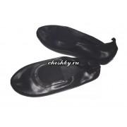 Чешки чёрного цвета из натуральной кожи