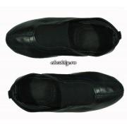 Чешки чёрные кожаные антискользящие