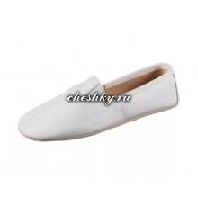 Чешки белые кожаные большие размеры