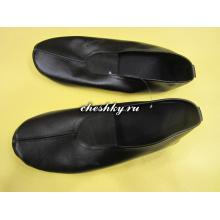 Чешки кожаные чёрного цвета