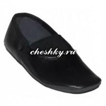 Чешки чёрные натуральная кожа